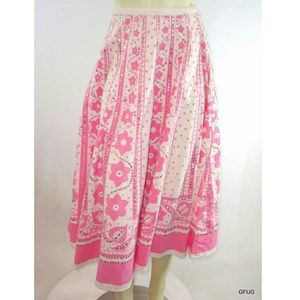 Body Central Floral Sequined Full Circle Skirt